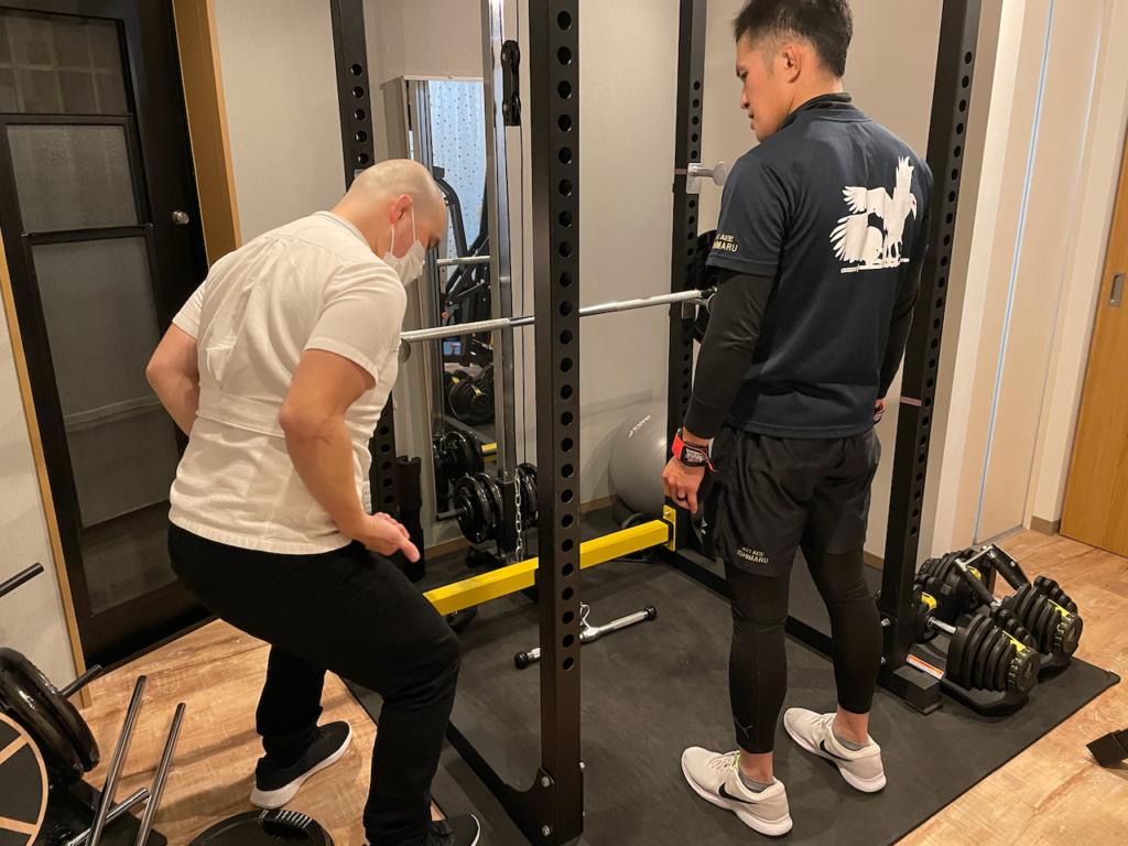 背中のトレーニングの画像